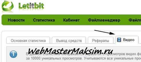 Способ монетизации сайта на просмотре видео при помощи файлообменника letitbit.