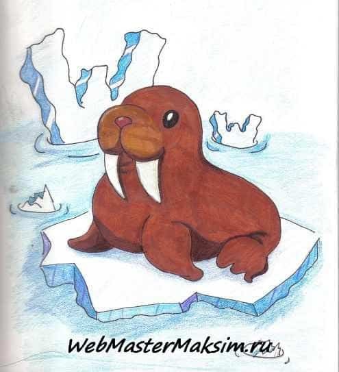 How to Draw Cute Walrus Seal amp Dolphin Kawaii  Chibi Easy