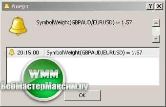 Вес валютной пары