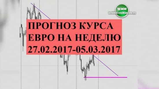 Прогноз курса евро на неделю 27.02.2017-05.03.2017
