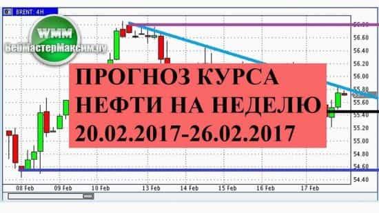 Прогноз курса нефти на неделю 20.02.2017-26.02.2017