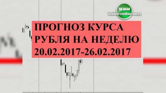 Прогноз курса рубля на неделю 20.02.2017-26.02.2017