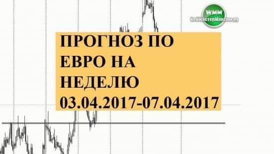 Прогноз по евро на неделю Апреля 03.04.2017-07.04.2017