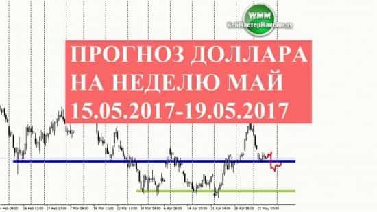 Прогноз доллара на неделю май 15.05.2017-19.05.2017