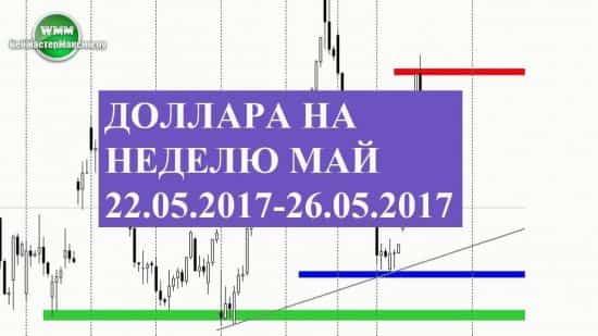 Прогноз доллара на неделю май 22.05.2017-26.05.2017