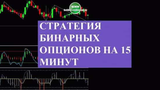 Стратегия бинарных опционов на 15 минут