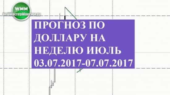 Прогноз по доллару на неделю июль 03.07.2017-07.07.2017