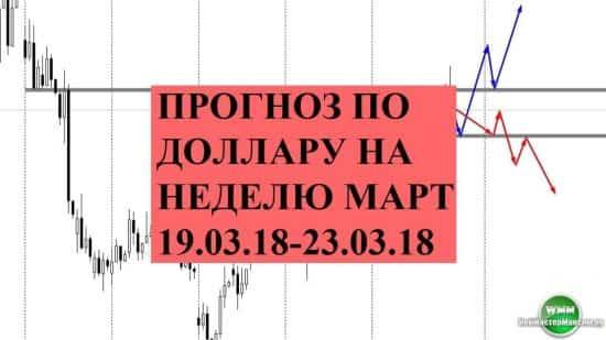 Прогноз по доллару на неделю март 19.03.18-23.03.18