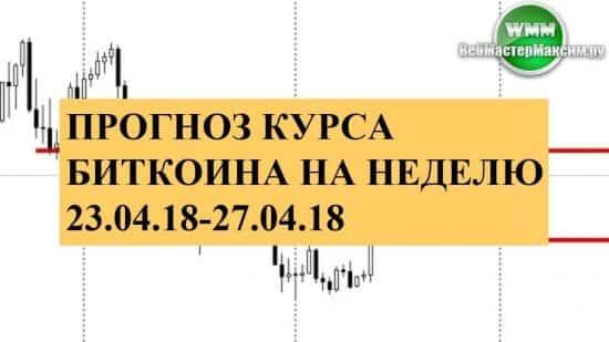 Прогноз курса биткоина на неделю 23.04.18-27.04.18. Нужно ждать!
